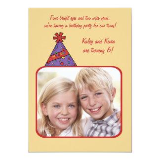 Chapeau d'anniversaire - invitation de fête