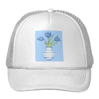 Chapeau de bleu de tulipes bleues casquettes de camionneur