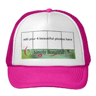 chapeau de cadre de 4 photos casquette trucker