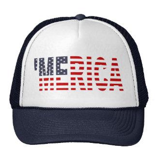 Chapeau de camionneur de drapeau de MERICA USA o Casquettes