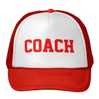 Chapeau de camionneur d'ENTRAÎNEUR {rouge} Casquettes