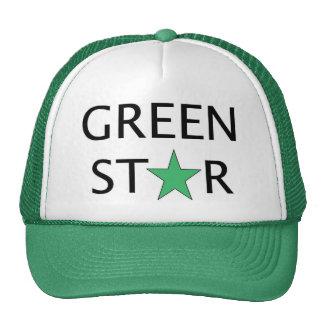 Chapeau de camionneur - étoile verte casquettes