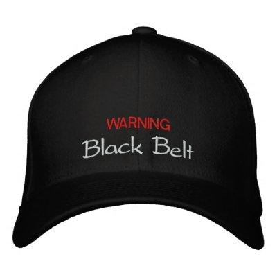 Chapeau de ceinture noire casquettes brodées