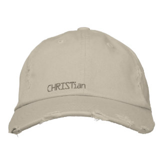 chapeau de Chrétien-cru Casquette Brodée