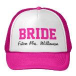 Chapeau de jeune mariée de roses indien casquette de camionneur