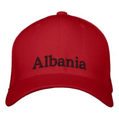 Chapeau de l'Albanie Casquette Brodée
