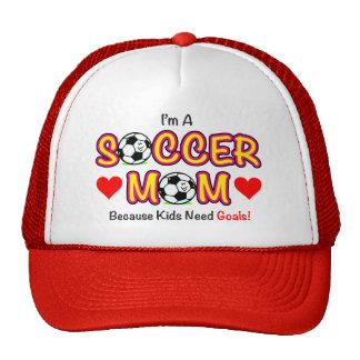 """Chapeau de maman du football """"de buts du besoin d' casquette"""