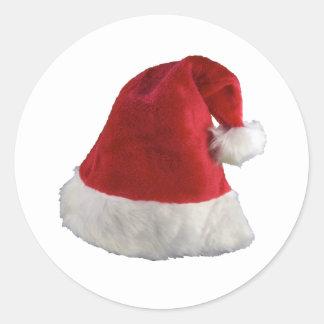 Chapeau de Noël du père noël Sticker Rond