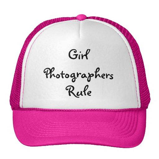 Chapeau de photographes de fille casquette de camionneur