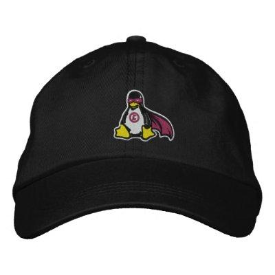 Chapeau de pingouin de vengeur de Linux Casquettes De Baseball Brodées
