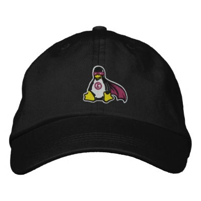 Chapeau de pingouin de vengeur de Linux Casquette De Baseball Brodée