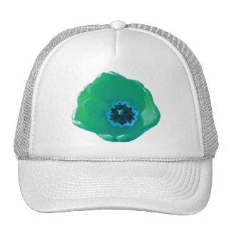 Chapeau de tulipe verte et bleue casquette