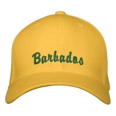 Chapeau des Barbade Casquettes Brodées