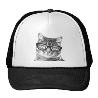 Chapeau drôle de trucket de photo de chat   Kitty  Casquette De Camionneur