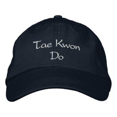 Chapeau du Taekwondo Casquettes Brodées