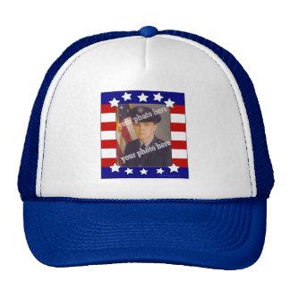 Chapeau fait sur commande patriotique de photo de  casquette