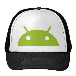 Chapeau jetant un coup d'oeil androïde de camionne casquettes de camionneur