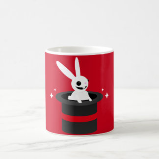 Chapeau magique de lapin de bande dessinée mug blanc