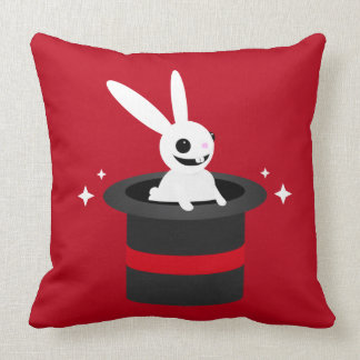 Chapeau magique de lapin de bande dessinée oreillers