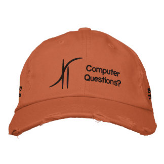 Chapeau orange de sergé casquette de baseball brodée