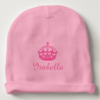 Chapeau personnalisé de calotte de bébé de filles bonnet pour bébé