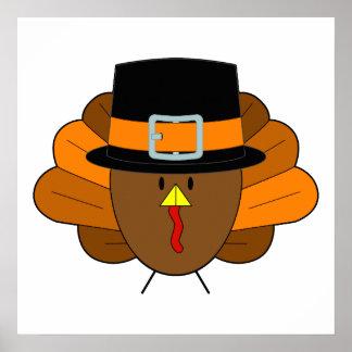 Chapeau Turquie de thanksgiving - Poster