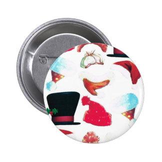 Chapeaux de Noël Badge Avec Épingle