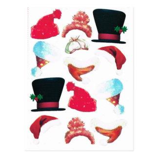Chapeaux de Noël Carte Postale