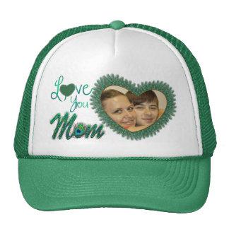 Chapeaux de photo du jour de mère casquettes de camionneur