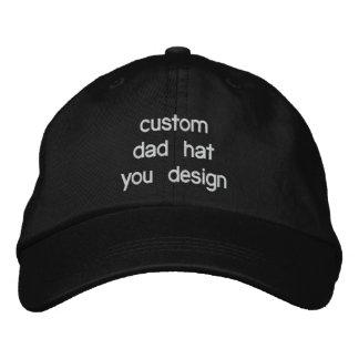 Chapeaux réglables de papa personnalisés par casquettes brodées
