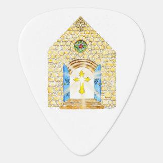 Chapel and Folk Art Cross Guitar Pick