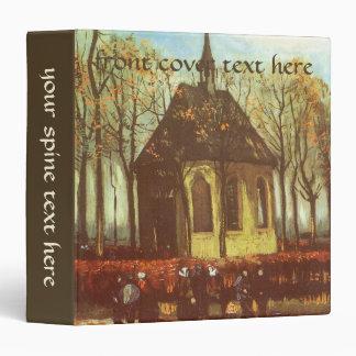 Chapel at Nuenen, Churchgoers by Vincent van Gogh 3 Ring Binders