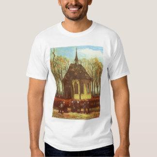 Chapel at Nuenen, Churchgoers by Vincent van Gogh Tshirts