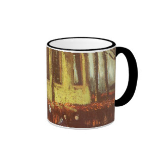 Chapel at Nuenen w Churchgoers by Vincent van Gogh Ringer Coffee Mug