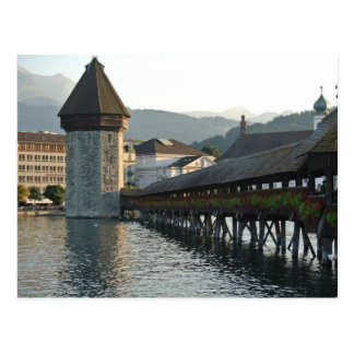 Chapel Bridge in Lucerne Switzerland Postcard