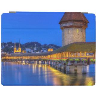 Chapel bridge, Kapellbrucke, Lucerne, Switzerland iPad Cover