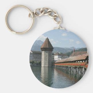 Chapel Bridge, Lucerne, Switzerland Keychain