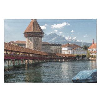 Chapel Bridge Lucerne,switzerland Placemat