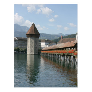 Chapel Bridge, Lucerne, Switzerland Postcard