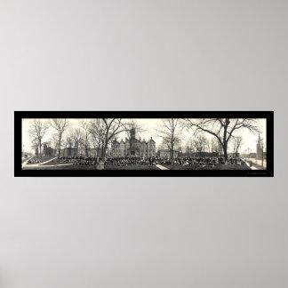 Chapel Drake University Photo 1911 Poster