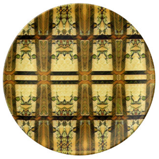 chapel glass in gold on a plate