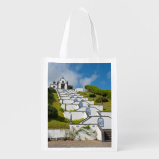 Chapel in Azores islands Grocery Bags
