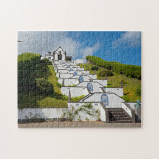 Chapel in Azores islands Jigsaw Puzzle