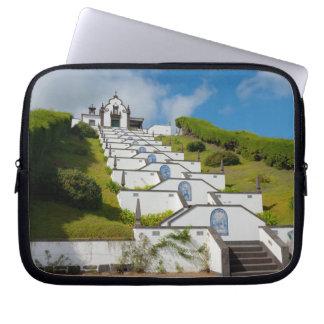 Chapel in Azores islands Laptop Sleeve