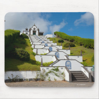 Chapel in Azores islands Mouse Pad