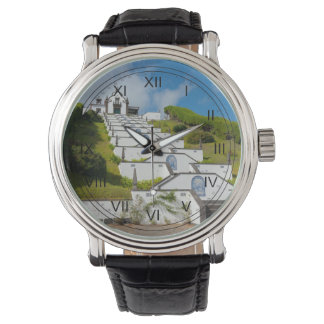 Chapel in Azores islands Wristwatch
