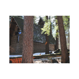 Chapel in the pines. canvas print