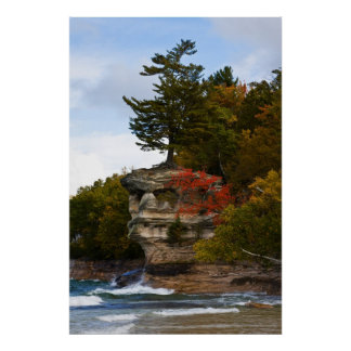 Chapel Rock In Autumn Poster