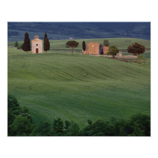 Chapel San Quirico d'Orcia, Tuscany, Italy Poster