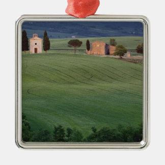 Chapel San Quirico d'Orcia, Tuscany, Italy Silver-Colored Square Ornament
